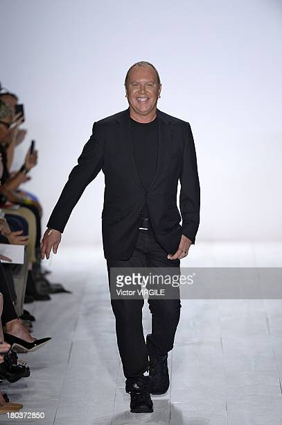 Designer Michael Kors walks the runway at the Michael Kors Ready to Wear fashion show during MercedesBenz Fashion Week Spring Summer 2014 at The...