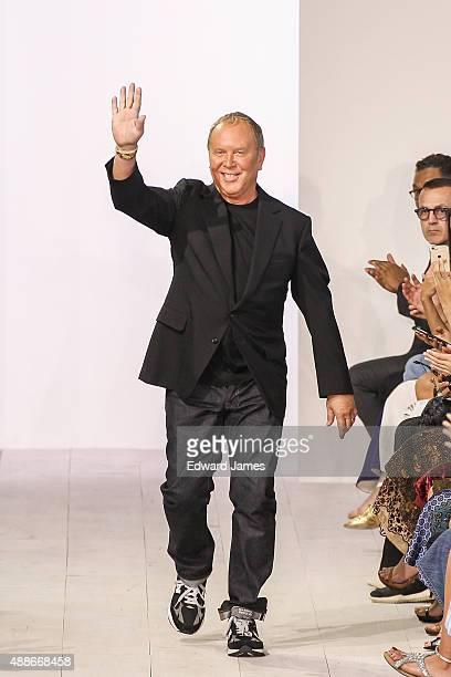 Designer Michael Kors walks the runway during the Michael Kors Spring/Summer 2016 fashion show at Spring Studios on September 16 2015 in New York City