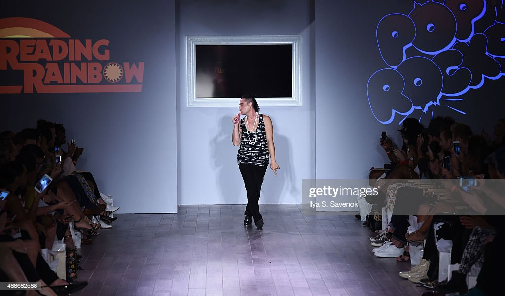 Designer Michael Kuluva walks the runway at the Tumbler And Tipsy By Michael Kuluva fashion show during Style360 Spring 2016 on September 16 2015 in...