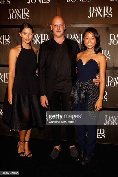 Designer Michael Lo Sordo arrives at the David Jones A/W 2014 Collection Launch at the David Jones Elizabeth Street Store on January 29 2014 in...