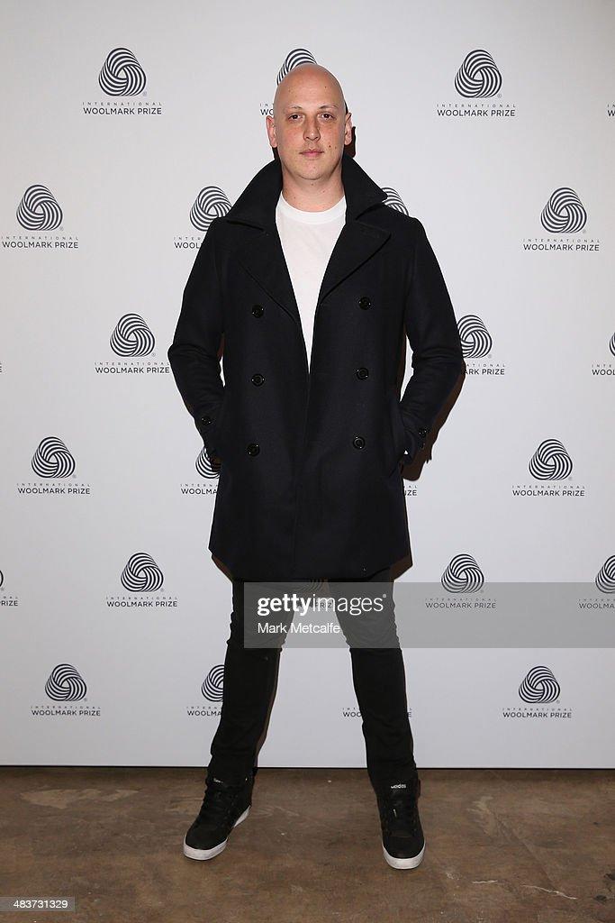 Designer Michael Lo Sordo at the International Woolmark Prize during Mercedes-Benz Fashion Week Australia 2014 at Carriageworks on April 10, 2014 in Sydney, Australia.