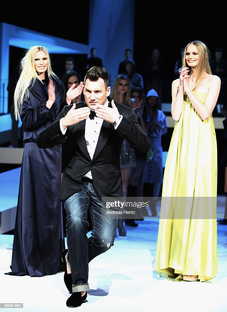 Designer Michael Michalsky gestures during his fashion show at the Michalsky Style Night during the Mercedes-Benz Fashion Week Berlin Autumn/Winter 2010 at the Friedrichstadtpalast on January 22, 2010 in Berlin, Germany.