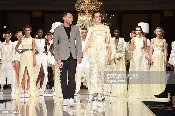 Designer Michael Michalsky walks the runway at the MICHALSKY StyleNite 2015 at Ritz Carlton on July 10 2015 in Berlin Germany
