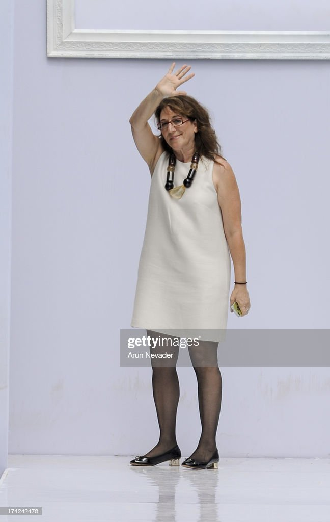 Designer Michal Weinberg appears on the runway during the finale of the Profile by Gottex fashion show at Mercedes-Benz Fashion Week Swim 2014 - Runway at SLS Hotel on July 21, 2013 in Miami, Florida.