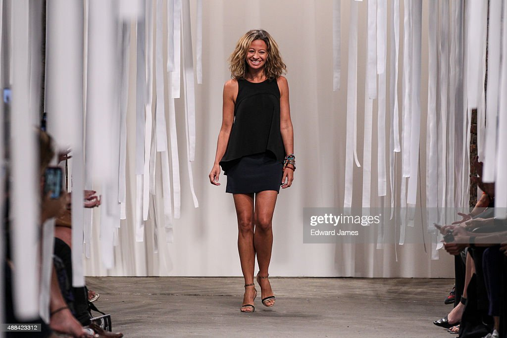 Designer Michelle Smith walks the runway during the Milly Spring/Summer 2016 fashion show at ArtBeam on September 15, 2015 in New York City.