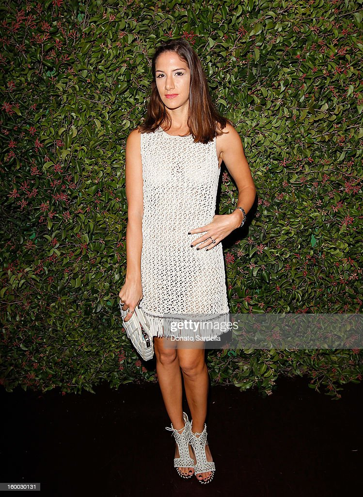 Designer Minnie Mortimer attends the Ferragamo presentation Spring Summer Runway Collection with VIP dinner, hosted by Jacqui Getty and Harpers BAZAAR at Chateau Marmont on January 24, 2013 in Los Angeles, California.