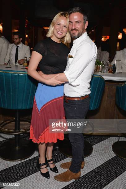 Designer Misha Nonoo and Global Membership Director of Soho House Markus Anderson attends the Cecconi's Dumbo Opening Party hosted by Nick Jones Soho...