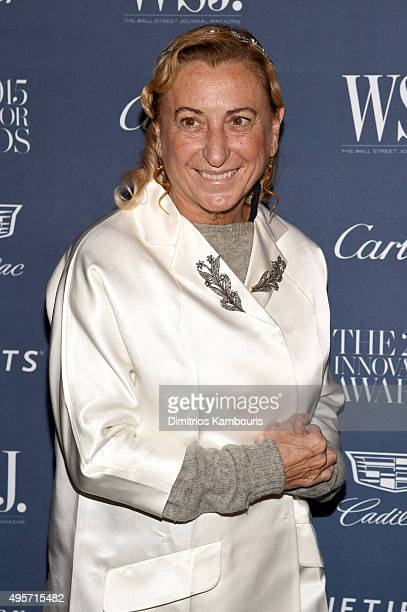 Designer Miuccia Prada attends the WSJ Magazine 2015 Innovator Awards at the Museum of Modern Art on November 4 2015 in New York City