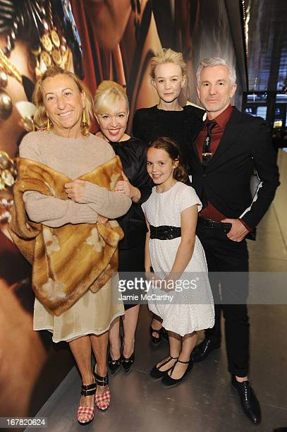 Designer Miuccia Prada costume and production designer Catherine Martin actress Carey Mulligan director Baz Luhrmann and daughter Lillian Luhrmann...