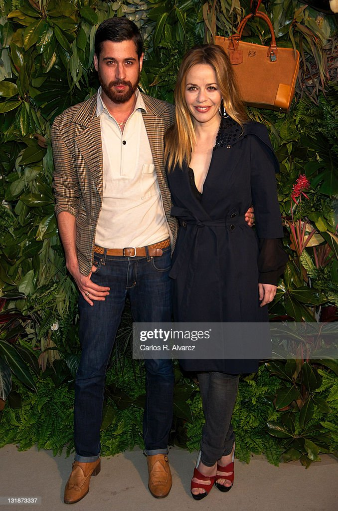 Designer Moises Nieto and Spanish actress Maria Adanez attend Loewe new collection party at 'Jardin Botanico' on March 30 2011 in Madrid Spain