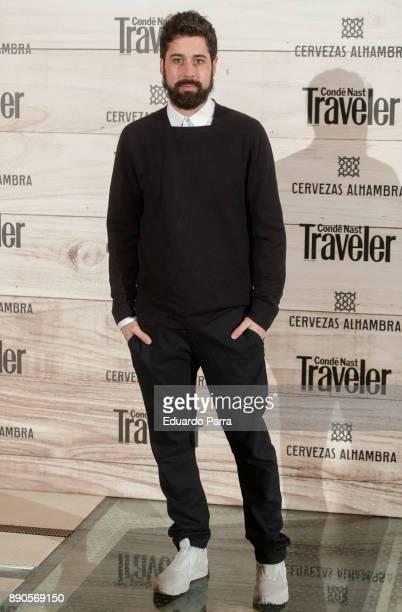 Designer Moises Nieto attends the 'Conde Nast Traveler Gastronomic and Wine Guide' photocall at Florida Retiro on December 11 2017 in Madrid Spain