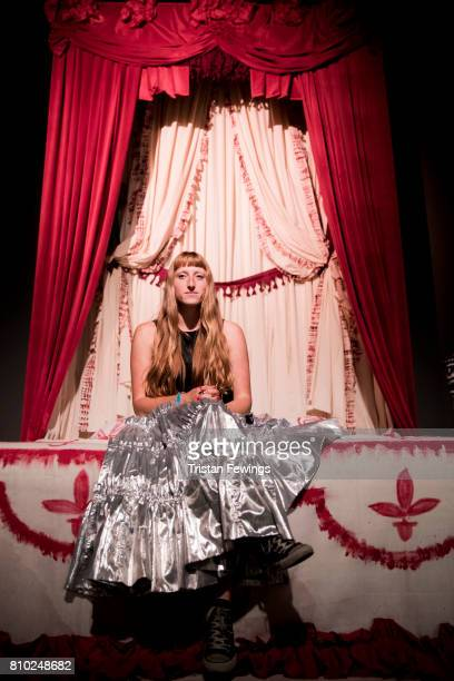 Designer Molly Goddard attends the Molly Goddard Fashion in Motion show at The VA on July 7 2017 in London England The Fashion in Motion show is part...