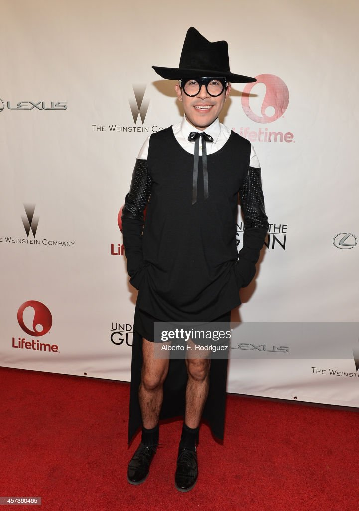 Designer Mondo Guerra attends the 'Under The Gunn' Finale Fashion Show at Los Angeles Theatre on December 16, 2013 in Los Angeles, California.