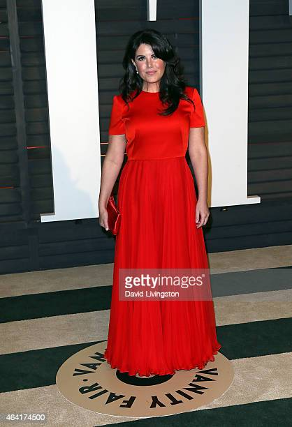 Designer Monica Lewinsky attends the 2015 Vanity Fair Oscar Party hosted by Graydon Carter at the Wallis Annenberg Center for the Performing Arts on...