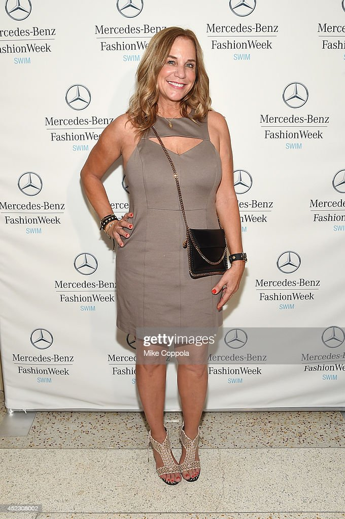 Designer Monica Wise attends MercedesBenz Fashion Week Swim 2015 at The Raleigh on July 17 2014 in Miami Beach Florida