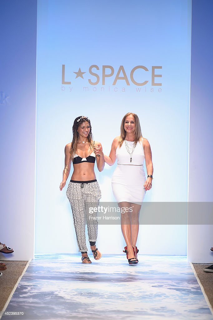 Designer Monica Wise walks the runway at the L*Space By Monica Wise fashion show during MercedesBenz Fashion Week Swim 2015 at Cabana Grande at The...