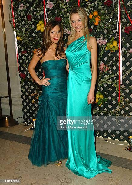 Designer Monique Lhuillier and actress Katrina Bowden attend the 2009 Young Fellows Ball at The Frick Collection on February 26 2009 in New York City