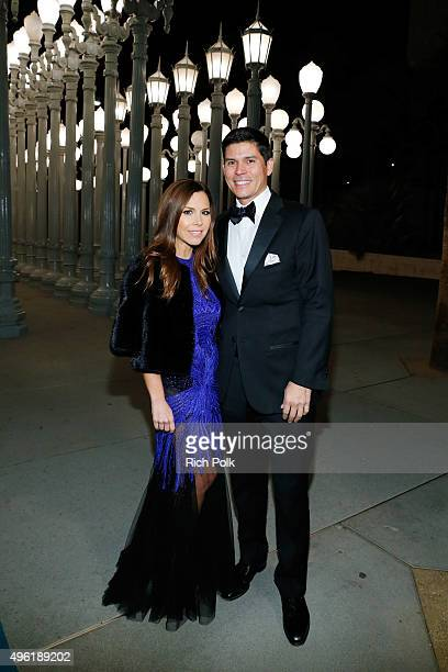 Designer Monique Lhuillier and CEO of Monique Lhuillier Tom Bugbee attend LACMA 2015 ArtFilm Gala Honoring James Turrell and Alejandro G Iñárritu...