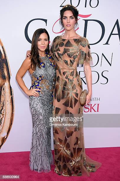 Designer Monique Lhuillier and Hilary Rhoda attend the 2016 CFDA Fashion Awards at the Hammerstein Ballroom on June 6 2016 in New York City