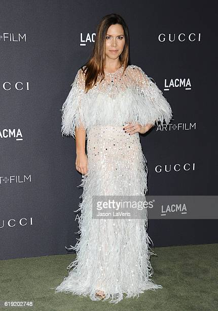 Designer Monique Lhuillier attends the 2016 LACMA Art Film gala at LACMA on October 29 2016 in Los Angeles California