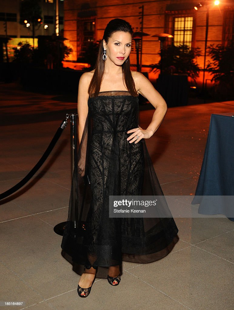 Designer Monique Lhuillier attends the Wallis Annenberg Center for the Performing Arts Inaugural Gala presented by Salvatore Ferragamo at the Wallis Annenberg Center for the Performing Arts on October 17, 2013 in Beverly Hills, California.