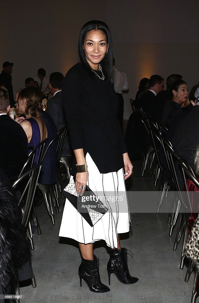 Designer Monique Pean attends the dinner to celebrate the Brothers, Sisters, Sons And Daughters Spring 2014 campaign launch on February 10, 2014 in New York City.