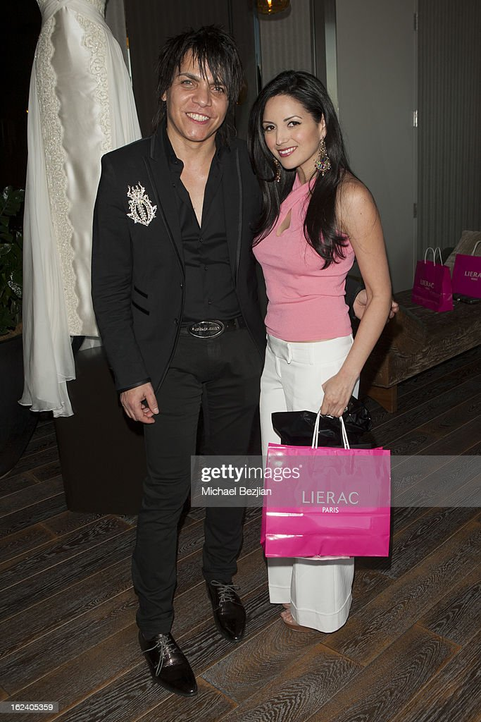 Designer Nabil Hayari and actress Cindy Vela attend on February 22, 2013 in Los Angeles, California.