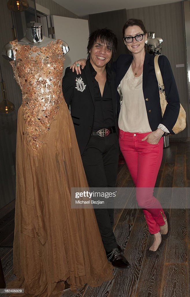 Designer Nabil Hayari and actress Jo Krasevich and Billy Wirth attend on February 22, 2013 in Los Angeles, California.