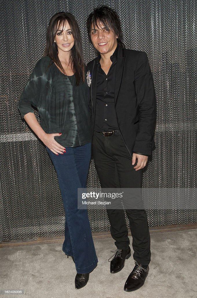 Designer Nabil Hayari and actress Melanie Mar attend on February 22, 2013 in Los Angeles, California.