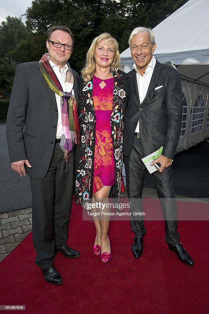 Designer Nana Kuckuck, Dirk Uhlmann and Jo Groebel attend the 'Fest der Eleganz und Intelligenz' at Villa Siemens on September 20, 2013 in Berlin, Germany.