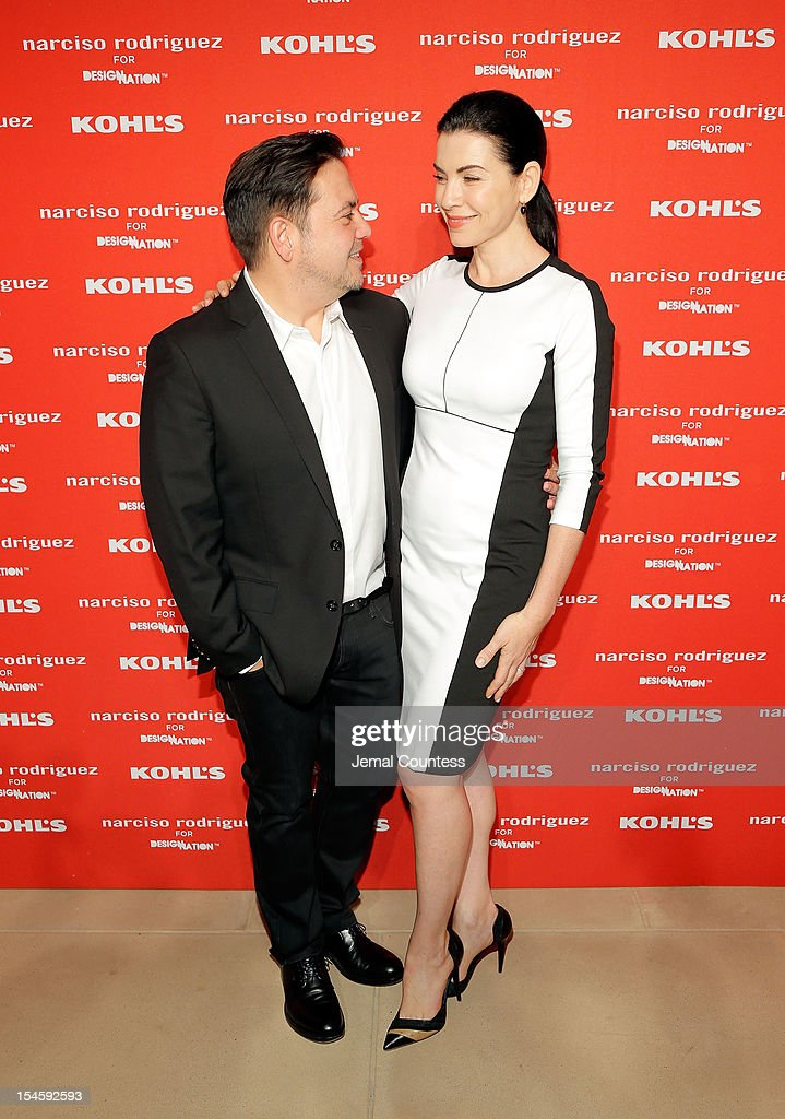 Designer Narciso Rodriguez and actress Julianna Margulies attend Narciso Rodriguez Kohl's Collection Launch Party at IAC Building on October 22, 2012 in New York City.