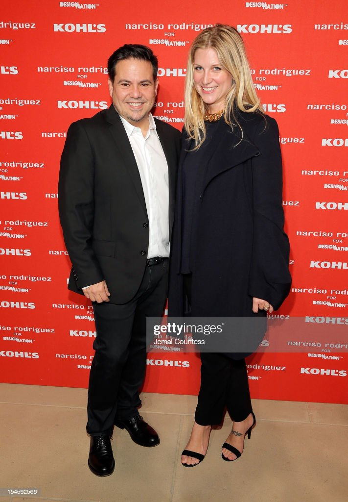 Designer Narciso Rodriguez and Kristina O'Neill attend Narciso Rodriguez Kohl's Collection Launch Party at IAC Building on October 22, 2012 in New York City.