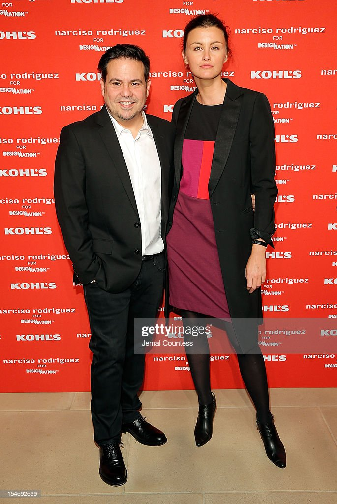 Designer Narciso Rodriguez and Trish Goff attend Narciso Rodriguez Kohl's Collection Launch Party at IAC Building on October 22, 2012 in New York City.