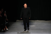 Designer Narciso Rodriguez walks the runway at the Narciso Rodriguez SS15 Collection at SIR Stage37 on September 9 2014 in New York City