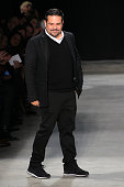 Designer Narciso Rodriguez walks the runway during the Narciso Rodriguez fashion show at SIR Stage 37 on February 16 2016 in New York City
