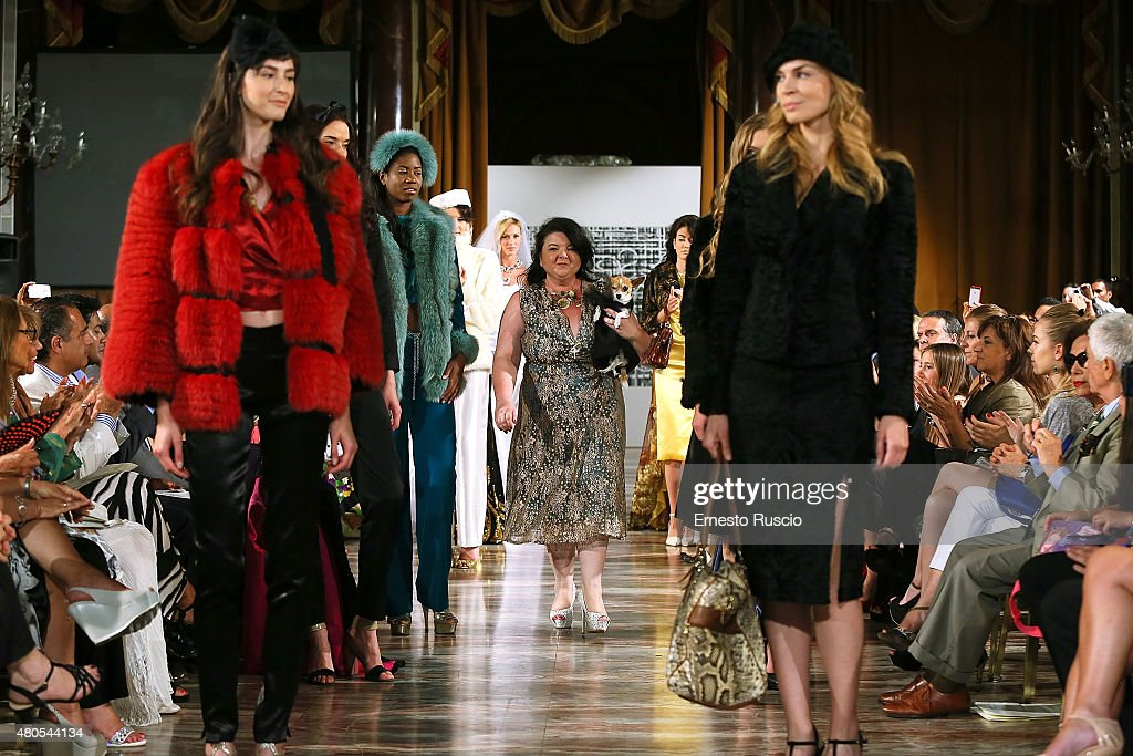 Designer Nathalie Altomonte attends her fashion show, as a part of AltaRoma AltaModa Fashion Week Fall/Winter 2015/16 at ST Regis Hotel on July 12, 2015 in Rome, Italy.