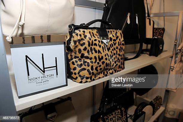 Designer Nicky Hilton debuts new handbag capsule collection 'Nicky Hilton x linea pelle' at ENK in Las Vegas on February 18 2015 in Las Vegas Nevada...