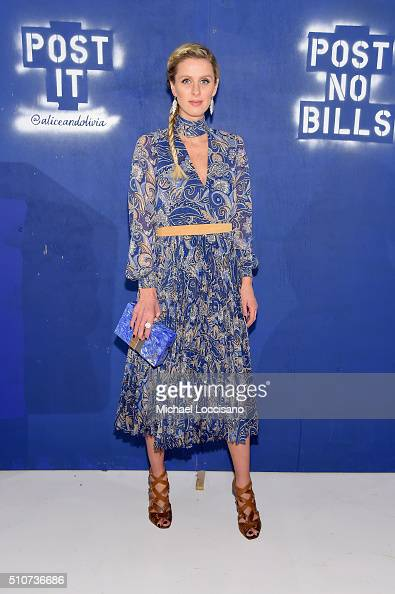 Designer Nicky Hilton Rothschild attends the alice olivia by Stacey Bendet Fall 2016 presentation at The Gallery Skylight at Clarkson Sq on February...