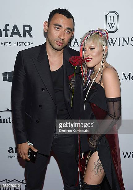 Designer Nicola Formichetti and model Brooke Candy and attend the 7th Annual amfAR Inspiration Gala at Skylight at Moynihan Station on June 9 2016 in...