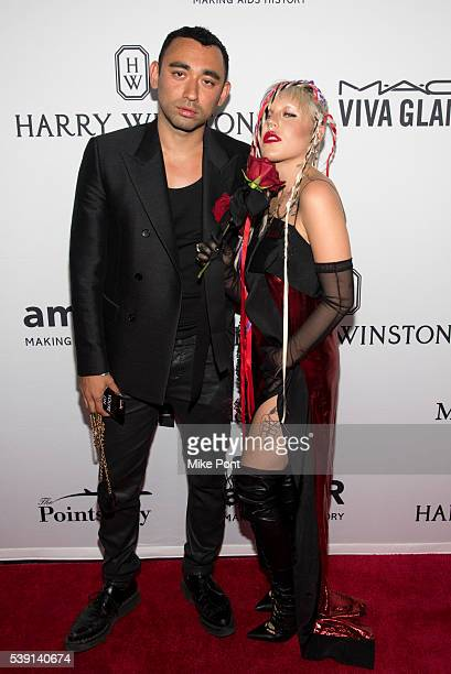 Designer Nicola Formichetti and model Brooke Candy attend the 7th Annual amfAR Inspiration Gala New York at Skylight at Moynihan Station on June 9...