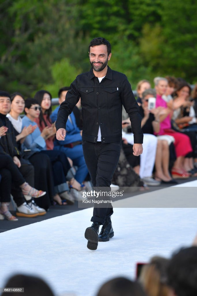 Designer Nicolas Ghesquiere walks the runway during the Louis Vuitton Resort 2018 show at the Miho Museum on May 14, 2017 in Koka, Japan.