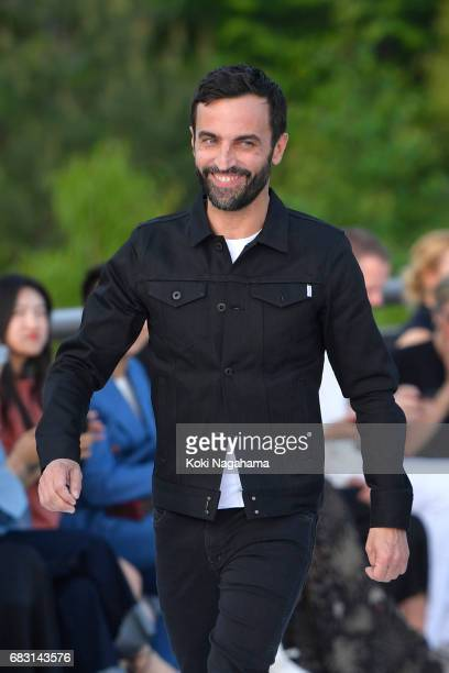 Designer Nicolas Ghesquiere walks the runway during the Louis Vuitton Resort 2018 show at the Miho Museum on May 14 2017 in Koka Japan