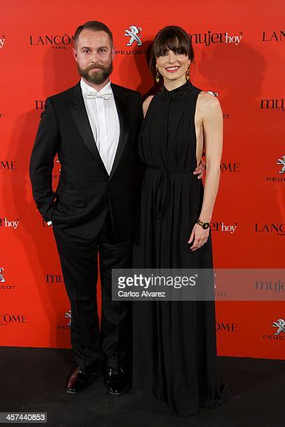 Designer Nicolas Vaudelet and Spanish actress Barbara Lennie attend the 'Mujer de Hoy' awards 2013 at the Hotel Palace on December 17 2013 in Madrid...