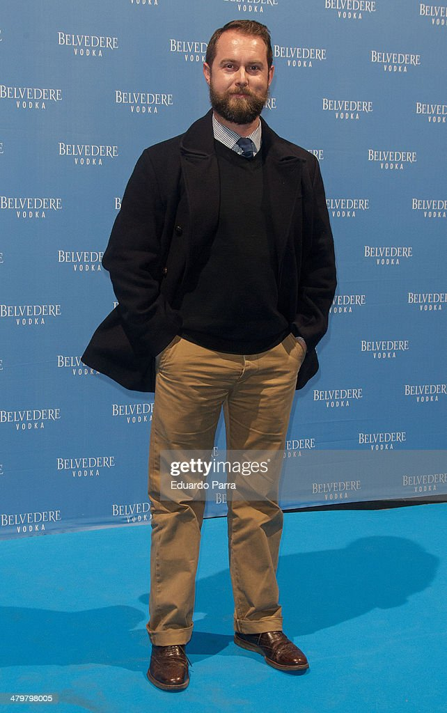 Designer Nicolas Vaudelet attends Belvedere Vodka party photocall at Principe Pio train station on March 20, 2014 in Madrid, Spain.