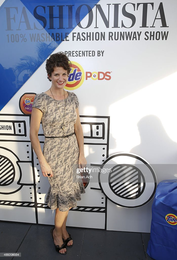 Designer Nicole Lenzen is seen at the Fashionista And Tide Event at Empire Hotel Rooftop on September 10 2014 in New York City