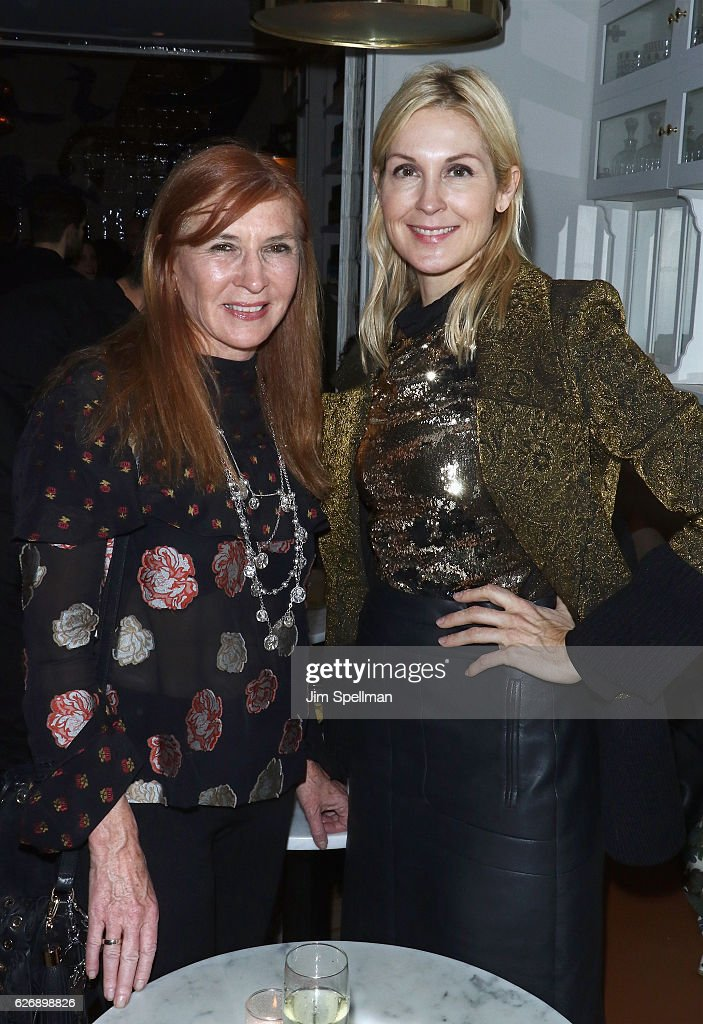 Designer Nicole Miller (L) and actress Kelly Rutherford attend the after party for the screening of Sony Pictures Classics' 'Julieta' hosted by The Cinema Society with Avion and GQ at Cafe Medi on November 30, 2016 in New York City.