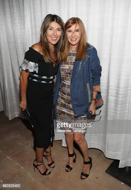 Designer Nicole Miller and Nina Garcia attend The Nicole Miller 2017 Spring Collection At The Underground Lauderdale Fashion Weekend Brought To You...