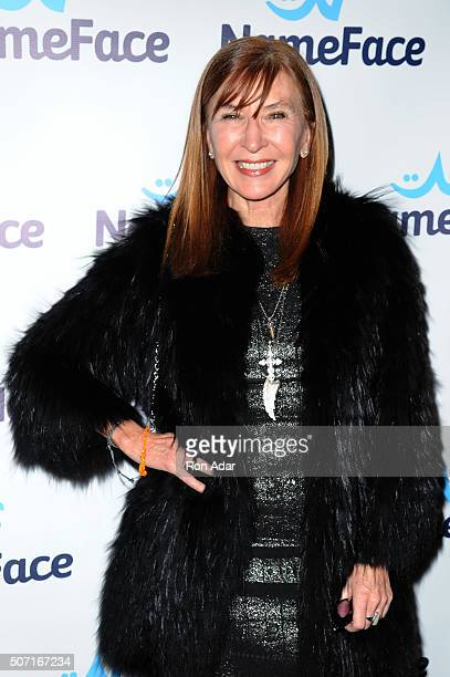 Designer Nicole Miller attend the NameFacecom launch at No 8 on January 27 2016 in New York City
