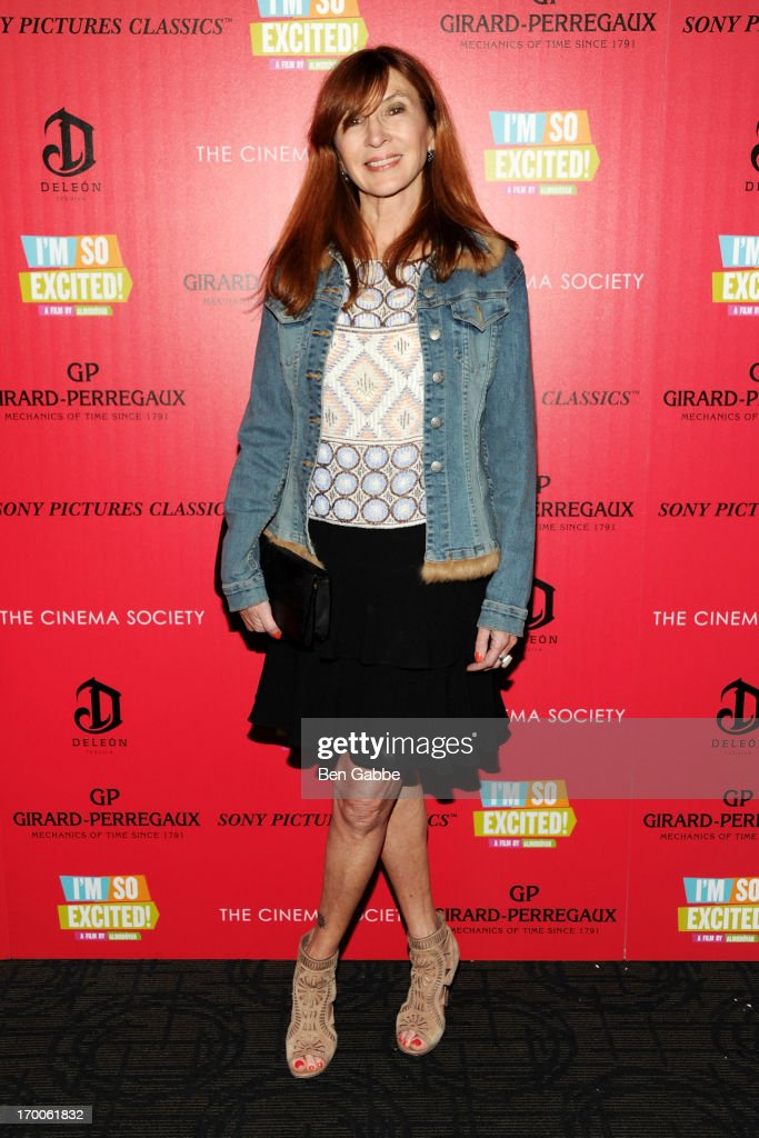 Designer Nicole Miller attends a screening of Sony Pictures Classics' 'I'm So Excited' hosted by Girard-Perregaux and The Cinema Society with DeLeon at Sunshine Landmark on June 6, 2013 in New York City.
