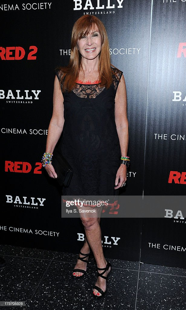 Designer Nicole Miller attends The Cinema Society And Bally Host A Screening Of Summit Entertainment's 'Red 2' at The Museum of Modern Art on July 16, 2013 in New York City.